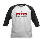 I Love Quintuplets Kids Baseball Jersey