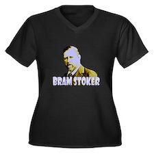 Bram Stoker Women's Plus Size V-Neck Dark T-Shirt