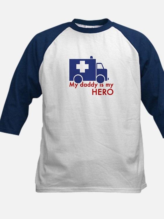 My Daddy Is My Hero (paramedic) Kids Baseball Jers