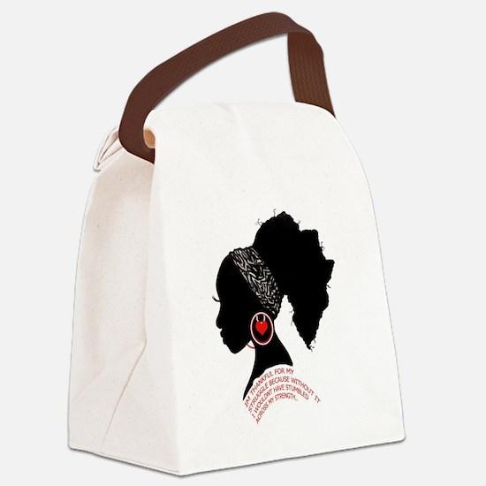 A QUEN BEAUTIFUL STRUGGLE Canvas Lunch Bag