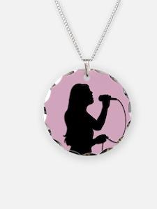 Female Singer Pink Necklace