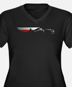 Formula 1 Poland Women's Plus Size V-Neck Dark T-S