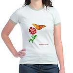 Butterfly and Flower Jr. Ringer T-Shirt
