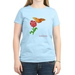Butterfly and Flower Women's Light T-Shirt