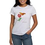 Butterfly and Flower Women's T-Shirt