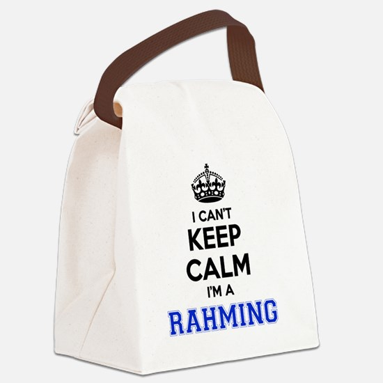 Funny Rahm Canvas Lunch Bag