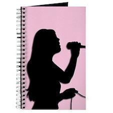 Female Singer Pink Journal