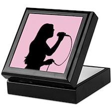 Female Singer Pink Keepsake Box