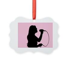 Female Singer Pink Ornament
