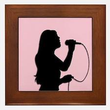 Female Singer Pink Framed Tile