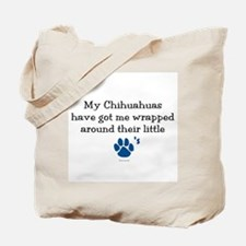 Wrapped Around Their Paws (Chihuahua) Tote Bag
