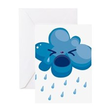 Raining cry Greeting Cards