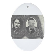 Funny Recordable photo Oval Ornament