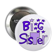"""purple funky big sister 2.25"""" Button (10 pack)"""