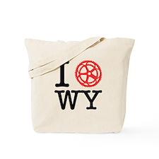 I Bike WY Tote Bag