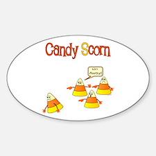 Scott Designs Candy Scorn Oval Decal