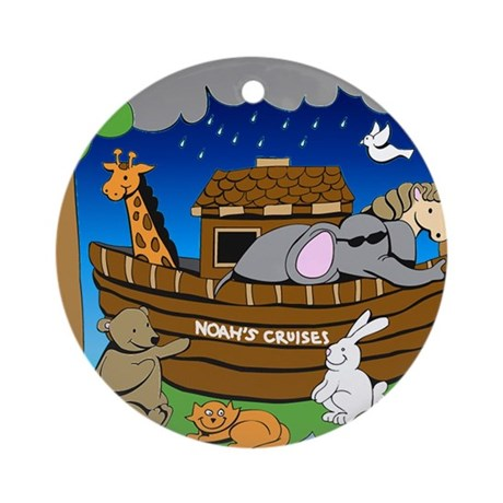 Noahs Ark Ornament (Round)