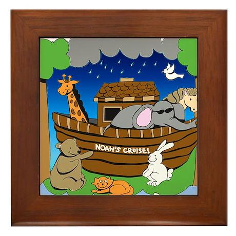 Noahs Ark Framed Tile