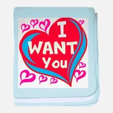 I want You ! baby blanket