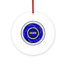 Huntingtons Disease Hope Ornament (Round)