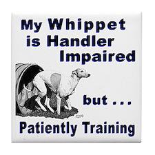 Whippet Agility Tile Coaster