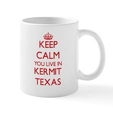 Keep calm you live in Kermit Texas Mugs