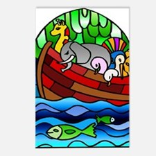 Noah's Ark Stained Glass Postcards (Package of 8)
