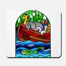Noah's Ark Stained Glass Mousepad