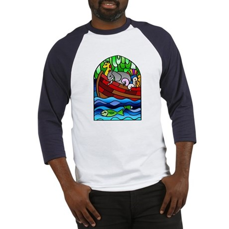 Noah's Ark Stained Glass Baseball Jersey