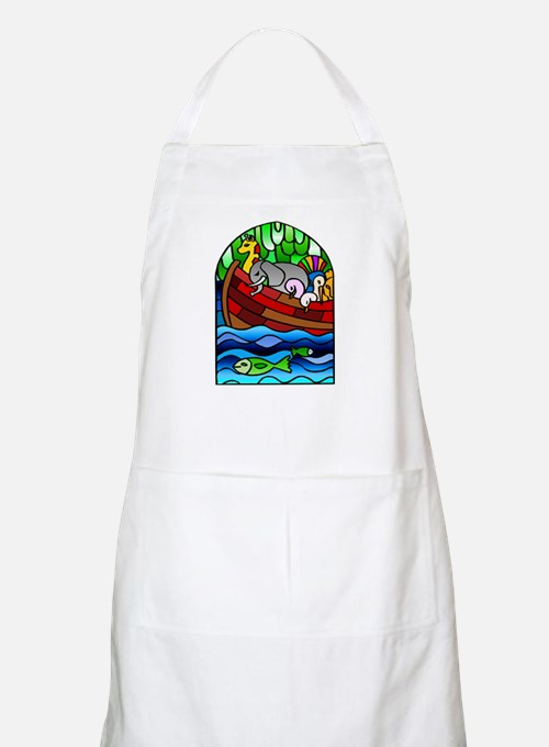 Noah's Ark Stained Glass BBQ Apron