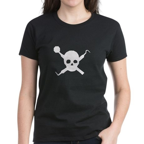 Final Impression Dental Pirate Logo Women's Dark T