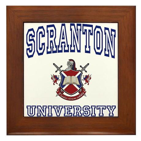 SCRANTON University Framed Tile
