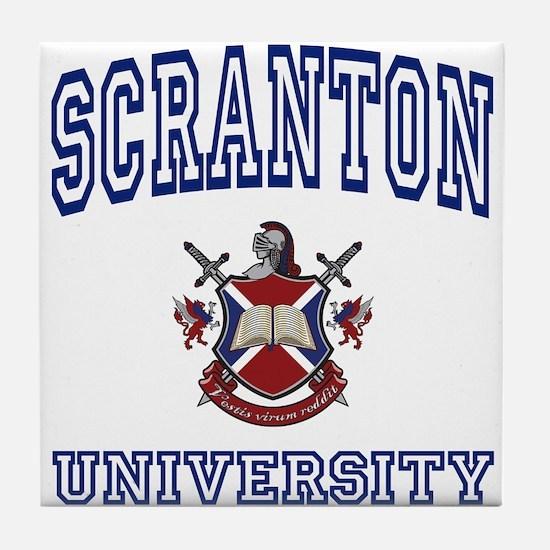 SCRANTON University Tile Coaster