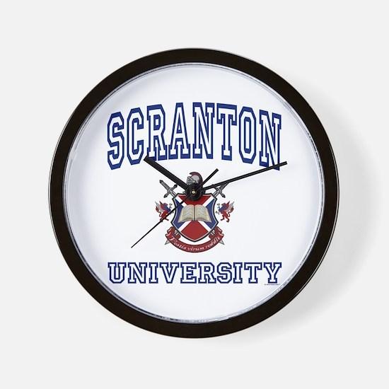 SCRANTON University Wall Clock