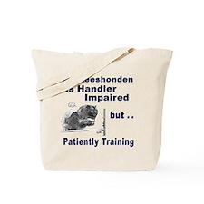 Keeshonden Agility Tote Bag