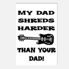 MY DAD SHREDS HARDER... Postcards (Package of 8)