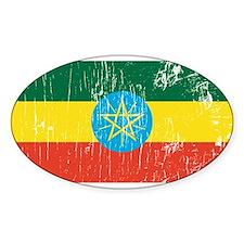 Vintage Ethiopia Oval Decal