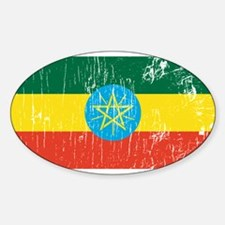 Vintage Ethiopia Oval Decal