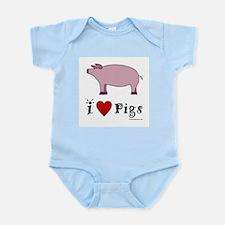 Pig Infant Creeper: I love Pigs