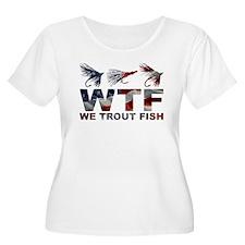 TROUT FISH USA Plus Size T-Shirt