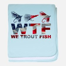 TROUT FISH USA baby blanket