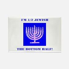 Half Jewish 3 2 clear Magnets