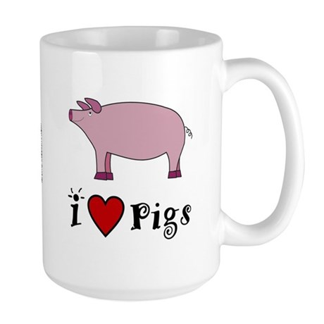 Pig Mug, Large: I love Pigs