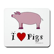 Pig Mousepad: I love Pigs