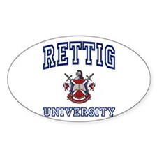 RETTIG University Oval Decal