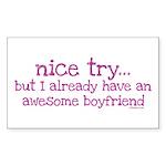 My BoyFriend is Awesome Rectangle Sticker