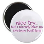 "My BoyFriend is Awesome 2.25"" Magnet (10 pack)"