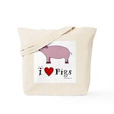 Pig Tote Bag: I love Pigs