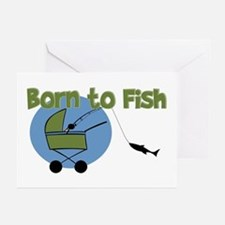 Born To Fish Greeting Cards (Pk of 10)