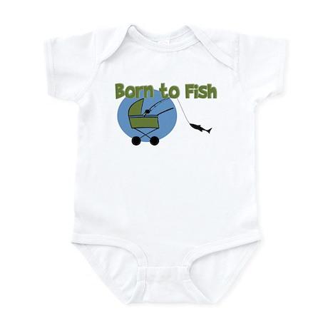 Born To Fish Onesie By Pinkinkart